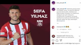 """Sivassporun yeni transferi Sefa: """"Mahcup etmeyeceğim"""""""