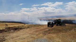 Tuncelide 10 dönüm ekili alan yanarak kül oldu