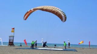 Türkiye Yamaç Paraşütü Hedef Yarışmasının üçüncü etap yarışları tamamlandı