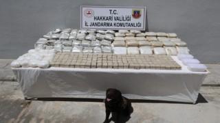 Yüksekovada 181 kilogram uyuşturucu ele geçirildi