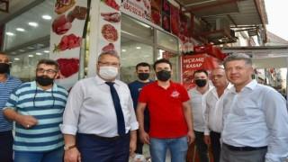 Başkan Çerçi Milletvekili Özkanla esnaf ziyareti yaptı