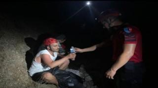 Fethiyede ormanlık alanda kaybolan 2 kişiyi JAK buldu
