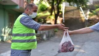 Tuzlada ihtiyaç sahibi ailelere 5 ton kurban eti dağıtıldı