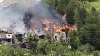 Artvin Valisi Yılmaz Doruk: Yayla olmasından dolayı yangına müdahalede zorluk var