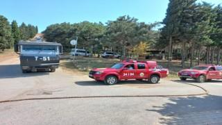 Aydos Ormanında yangın ihtimaline karşı drone destekli denetim