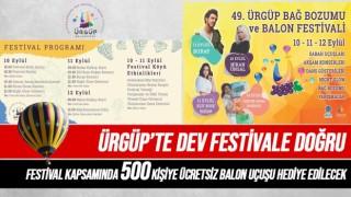Ürgüp Bağ Bozumu ve Balon Festivali 10 Eylülde Başlıyor