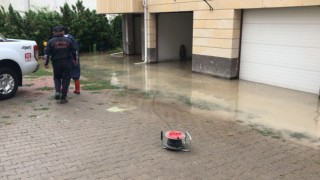 Ürgüpte su basan evlere AFAD ve itfaiye ekipleri müdahale etti