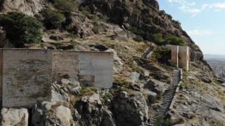 226 metre yükseklikteki tarihi Karahisar Kalesine koşarak çıktılar