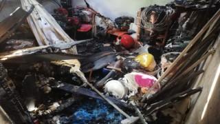4 kişilik aileye mezar olan yangından geriye enkaz yığını kaldı