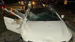 Aksarayda düğün yolunda feci kaza: 2 ölü, 4 yaralı
