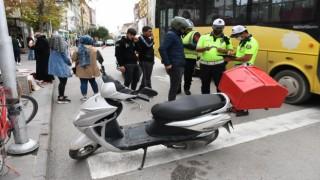 Aksarayda halk otobüsleri ve motosikletler denetleniyor