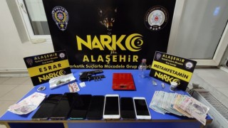 Alaşehirde uyuşturucu operasyonu: 3 tutuklama