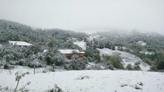 Artvinde kar yağdı, yaylalar beyaza büründü