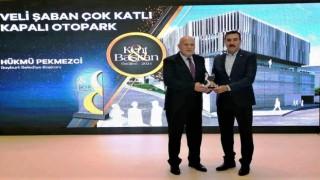 Başkan Pekmezciye ikinci başarı ödülü