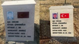 Bingölde 33 şehidin anıt mezarında fotoğraflar yenilendi