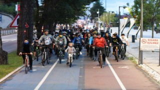 Çevre ve toplum sağlığı için pedal çevirdiler