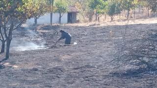Dağ ilçesinde korkutan yangın