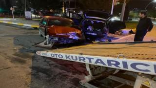 Elazığda otomobiller çarpıştı: 1 yaralı
