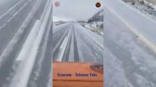 Erzuruma mevsimin ilk karı Eylül ayında düştü