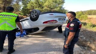 Fethiyede devrilen otomobilin sürücüsü hayatını kaybetti