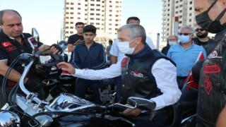 Gaziler için motosikletli şehir turu