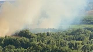 Hevsel Bahçelerinde korkutan yangın