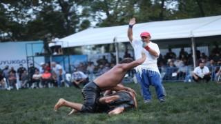 Hünkar Çayırı Yağlı Güreşlerinin şampiyonu Ali Gürbüz oldu