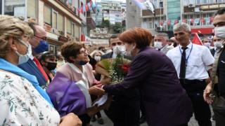 İYİ Parti Genel Başkanı Meral Akşener, Artvinde esnafı ziyaret etti