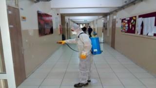 Kırıkkalede okullarda dezenfekte çalışması