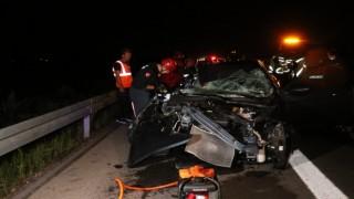 Kuzey Marmara Otoyolunda feci kaza: 1 ölü, 3 yaralı