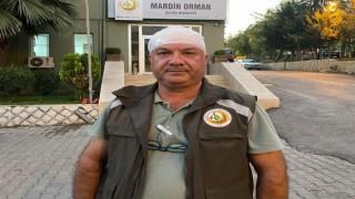 Mardinde kaçak ağaç kesimi yapan kişiler, orman görevlilerini darp etti