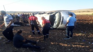Mardinde trafik kazası: 10 yaralı