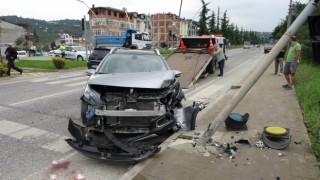 Orduda trafik kazası: 1 yaralı