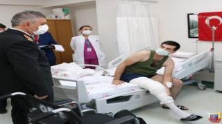 Orgeneral Ali Çardakcıdan gazilere ziyaret