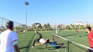 """Osmaniyede """"Ayak tenisi turnuvası"""" düzenlendi"""
