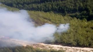 Osmaniyedeki orman yangını büyümeden söndürüldü