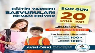 Pamukkale Belediyesinin eğitim yardımında son gün 20 Eylül