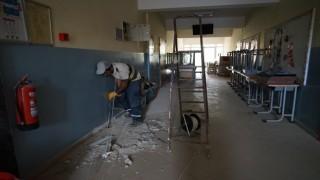 Selin vurduğu Bozkurtta okullar eğitim öğretime hazırlanıyor