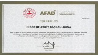 Süleyman Soyludan Niğde Belediyesine Teşekkür